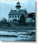 East Point Light In The Clouds Metal Print