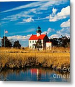 East Point Lighthouse Reflection Metal Print