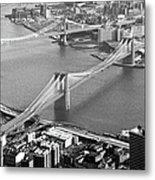 East River Bridges New York Metal Print