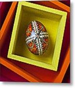 Easter Egg In Box Metal Print
