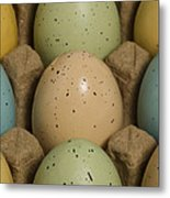 Easter Eggs Carton 1 A Metal Print