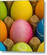 Easter Eggs Carton 2 A Metal Print
