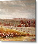 Eastern Townships Quebec Painting Metal Print by Carole Spandau