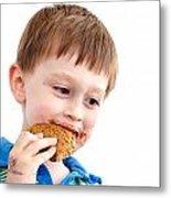 Eating Biscuit Metal Print