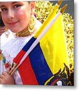 Ecuadorian Pride Metal Print