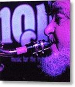 Ed Lynman On Blues Sax Metal Print