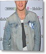Ed Westwick At Arrivals For T-mobile Metal Print by Everett