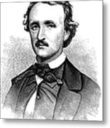Edgar Allan Poe (1809-1849) Metal Print