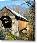 Edgell Covered Bridge Metal Print