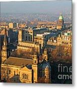 Edinburgh On A Winter's Day Metal Print by Christine Till
