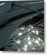 Edna's Bow Lights Metal Print