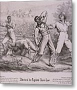 Effects Of The Fugitive-slave-law Metal Print