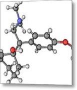 Effexor Antidepressant Drug Molecule Metal Print