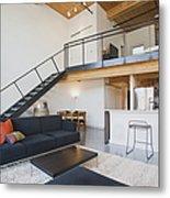Efficiency Apartment Interior Metal Print by Ben Sandall
