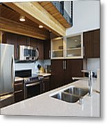 Efficiency Apartment Kitchen Metal Print by Ben Sandall