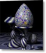 Egg And Goblet Metal Print