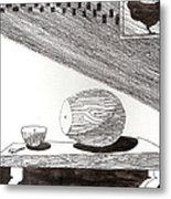 Egg Drawing 019613 Metal Print