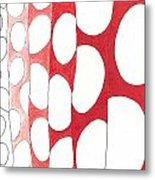 Egg Shower Curtain Metal Print