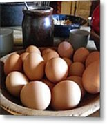 Eggs On The Table Metal Print
