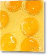 Eggs Yolk Metal Print
