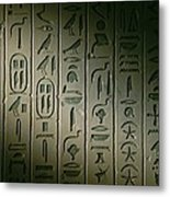 Egyptian Hieroglyphics Decorate Metal Print