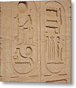 Egyptian Writing Metal Print