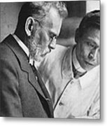 Ehrlich And Hata, Discovered Syphilis Metal Print