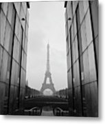 Eiffel Tower And Wall For Peace Metal Print by Cyril Couture @