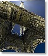 Eiffel Tower At Night,directly Below Metal Print