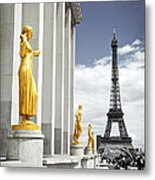 Eiffel Tower From Trocadero Metal Print by Elena Elisseeva