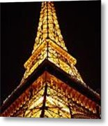 Eiffel Tower Las Vegas Metal Print