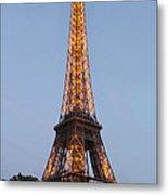Eiffel Tower Lights Metal Print