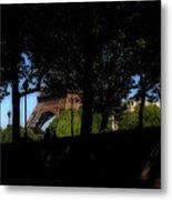 Eiffel Tower Shadows Metal Print