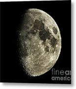 Eight-day-old Moon Metal Print