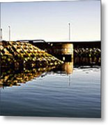 Eisenhower Pier Metal Print by Chris Cardwell