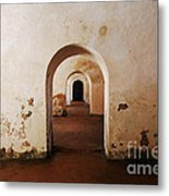 El Morro Fort Barracks Arched Doorways San Juan Puerto Rico Prints Metal Print