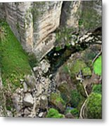 El Tayo River Gorge In Ronda Metal Print
