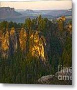 Elbe Sandstone Highlands Metal Print