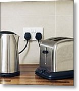 Electric Kettle And Toaster Metal Print
