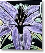 Electric Lily Phase Two Metal Print