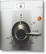 Electric Oven Dial Metal Print