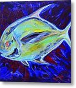 Electric Pompano Metal Print