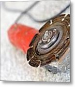 Electrical Saw On Floor Metal Print by Sami Sarkis