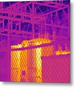 Electrical Substation Metal Print