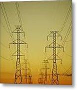 Electricity Pylons Metal Print