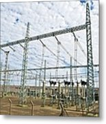 Electricity Substation Metal Print