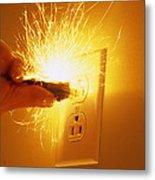 Electrocution Hazard Metal Print