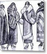 Elegant Coats Metal Print