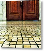 Elegant Door And Mosaic Floor Metal Print