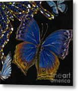 Elena Yakubovich - Butterfly 2x2 Lower Right Corner Metal Print